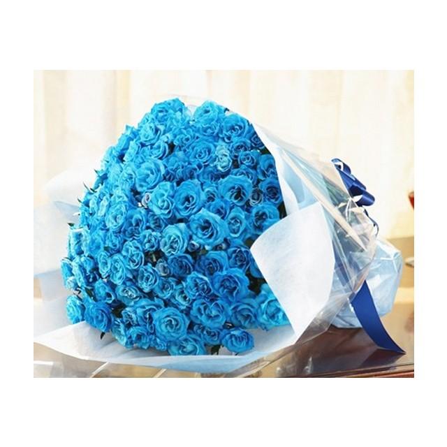 100 Blue Rose Kisses