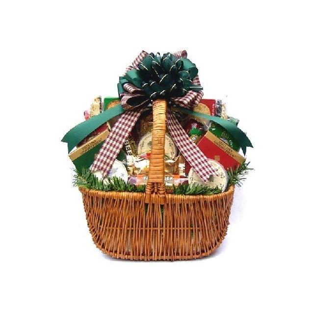 Sausage and Cheese Christmas Basket