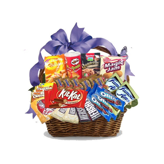 You love chocolates basket